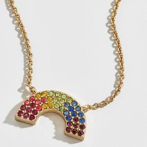 BaubleBar Delicate Rainbow Pride Necklace